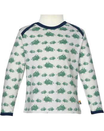 loud + proud T-Shirt Langarm Allover WALDTIRERE oregano 1075-ore GOTS