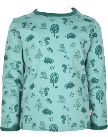 loud + proud T-Shirt Langarm Allover WALDTIRERE oregano 1079-ore GOTS
