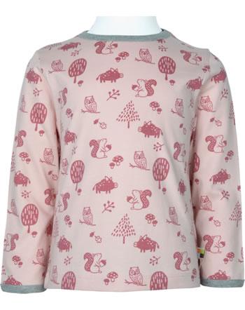loud + proud T-Shirt Langarm Allover WALDTIRERE rosé 1079-rs GOTS