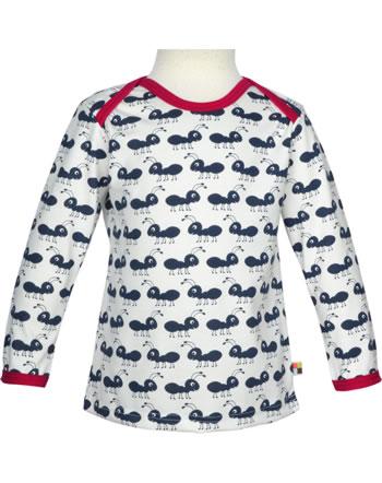 loud + proud T-Shirt Langarm AMEISEN navy 2040-ny GOTS