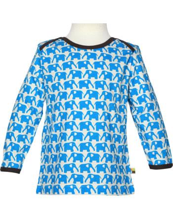 loud + proud T-Shirt Langarm BASIC Elefanten kbA aqua 205-aq
