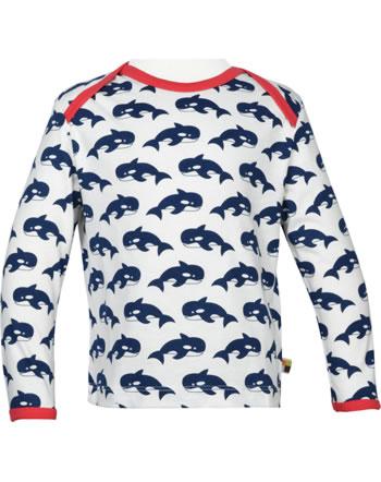 loud + proud T-Shirt Langarm EISBÄR UND ORCA ultramarine 1050-ul