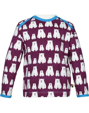 loud + proud T-Shirt Langarm EISBÄR UND ORCA plum 1050-plu