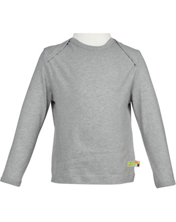 loud + proud T-Shirt Langarm grey 1032-gr GOTS