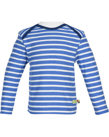 loud + proud T-Shirt Langarm Heavy Jersey RINGEL cobalt 1047-cob GOTS