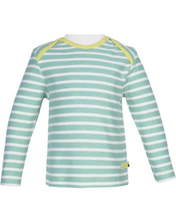 loud + proud T-Shirt Langarm Heavy Jersey RINGEL mint 1047-min GOTS