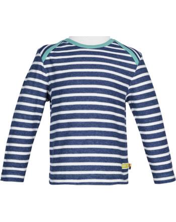 loud + proud T-Shirt Langarm Heavy Jersey RINGEL ultramarin 1047-ul GOTS