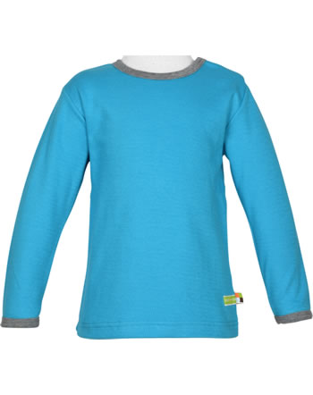 loud + proud T-Shirt Langarm Interlock EISBÄREN UND ORCAS aqua 1051-aq