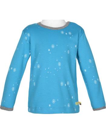 loud + proud T-Shirt Langarm SCHNEEFLOCKEN aqua 1056-aq GOTS
