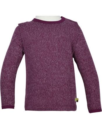loud + proud T-Shirt Langarm Melange Strick EISBÄR UND ORCA plum 1055-plu
