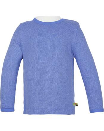 loud + proud T-Shirt Langarm Melange Strick WALDTIERE indigo 1078-ind GOTS