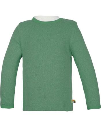 loud + proud T-Shirt Langarm Melange Strick WALDTIERE ivy 1078-ivy GOTS