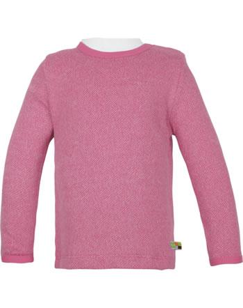 loud + proud T-Shirt Langarm Melange Strick WALDTIERE mauve 1078-mau GOTS