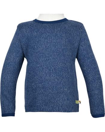 loud + proud T-Shirt Langarm Melange Strick WALDTIERE ultramarin 1078-ul GOTS