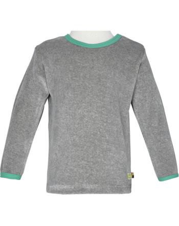 loud + proud T-Shirt Langarm Nicki grey 1048-gr GOTS