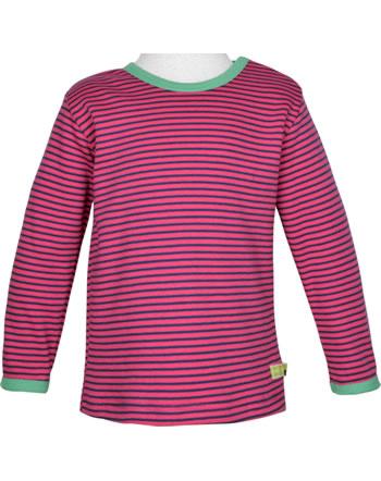 loud + proud T-Shirt Langarm Ringel azalea 1038-aza GOTS