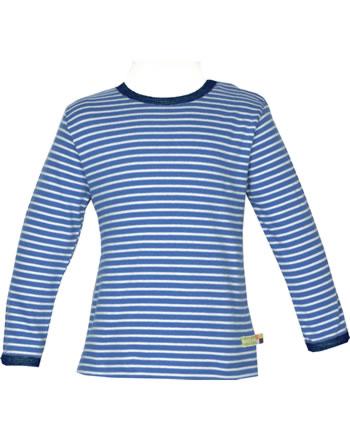 loud + proud T-Shirt Langarm Ringel cobalt 1038-cob GOTS
