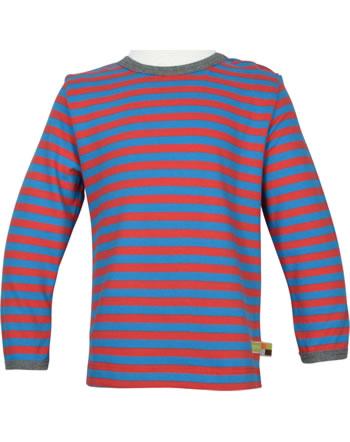 loud + proud T-Shirt Langarm Ringel EISBÄR UND ORCA aqua/melon 1052-aq/mel