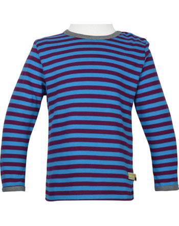 loud + proud T-Shirt Langarm Ringel EISBÄR UND ORCA plum/aqua 1052-plu/aq