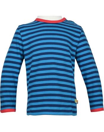 loud + proud T-Shirt Langarm Ringel EISBÄR UND ORCA ultramar./aqua 1052-ul/aq