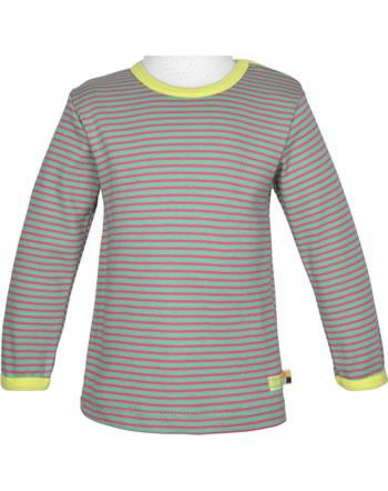 loud + proud T-Shirt Langarm Ringel mint 1038-min GOTS
