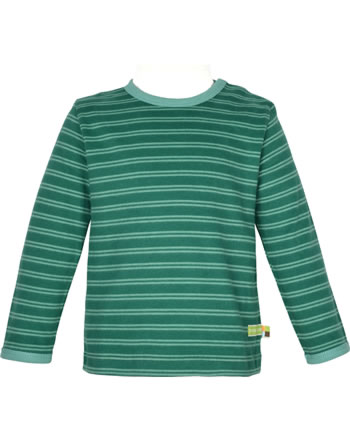 loud + proud T-Shirt Langarm Ringel WALDTIERE ivy 1077-ivy GOTS