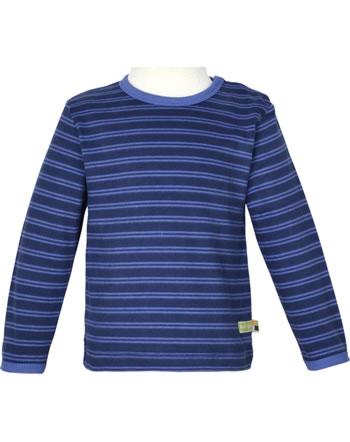 loud + proud T-Shirt Langarm Ringel WALDTIERE ultramarin 1077-ul GOTS