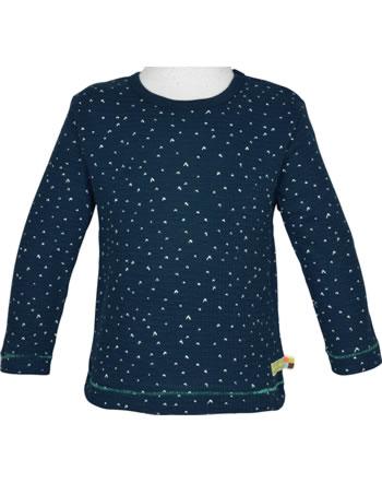 loud + proud T-Shirt Langarm WAFFELSTRUKTUR ultramarin 1046-ul GOTS