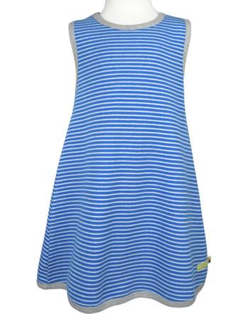 loud + proud Pinafore dress striped cobalt 6019-cob GOTS
