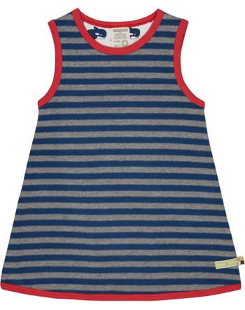 loud + proud Pinafore dress striped steel/ultramarine 6031-ste/ul