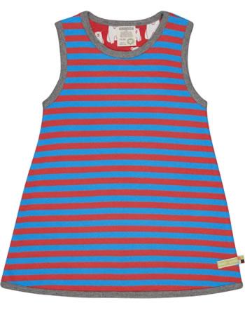 loud + proud Pinafore dress striped aqua/melon 6031-aq/mel