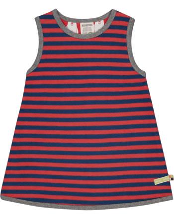 loud + proud Pinafore dress striped melon/ultramarine 6031-mel/ul