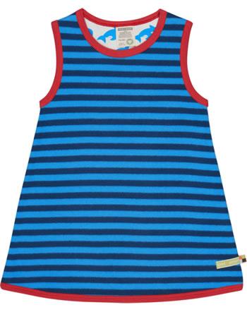 loud + proud Pinafore dress striped ultramarine/aqua 6031-ul/aq
