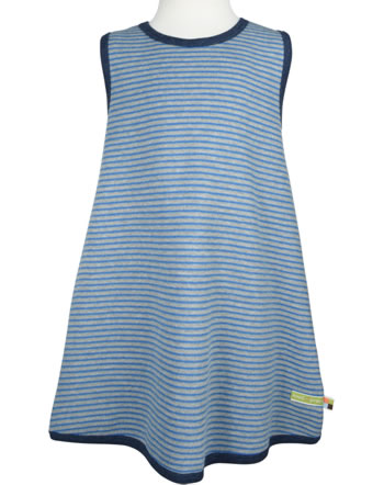 loud + proud Pinafore dress striped grey melange 6019-gr GOTS