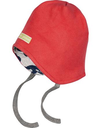 loud + proud Reversible hat fleece POLAR BEARS AND ORCAS melon 7081-mel