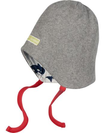 loud + proud Reversible hat fleece POLAR BEARS AND ORCAS steel 7081-ste