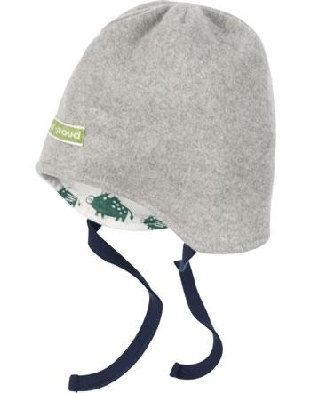 loud + proud Reversible hat fleece FOREST ANIMALS grey 7104-gre GOTS