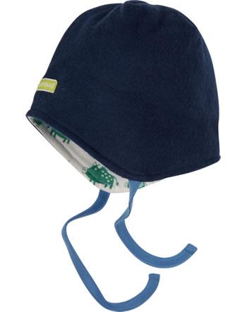 loud + proud Reversible hat fleece FOREST ANIMALS ultramarin 7104-ul GOTS