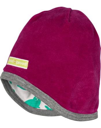 loud + proud Reversible hat berry 7073-ber GOTS