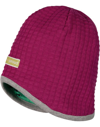 loud + proud Reversible hat SEAL berry 7050-ber GOTS