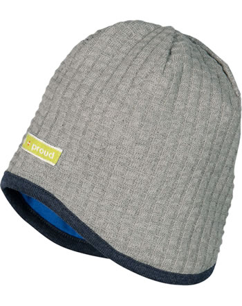 loud + proud Reversible hat SEAL grey 7050-gr GOTS