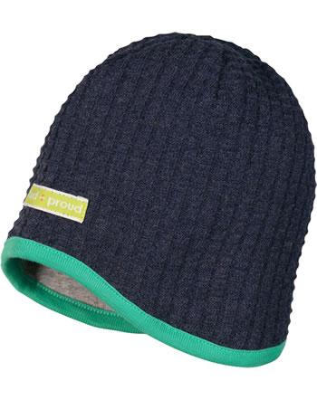 loud + proud Reversible hat SEAL midnight 7050-mi GOTS
