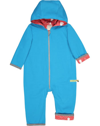 loud + proud Coverall knitted reversible POLAR BEARS AND ORCAS aqua 5075-aq