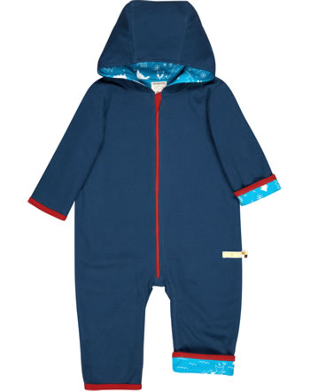 loud + proud Coverall knitted reversible POLAR BEARS AND ORCAS ultramarine 5075-ul