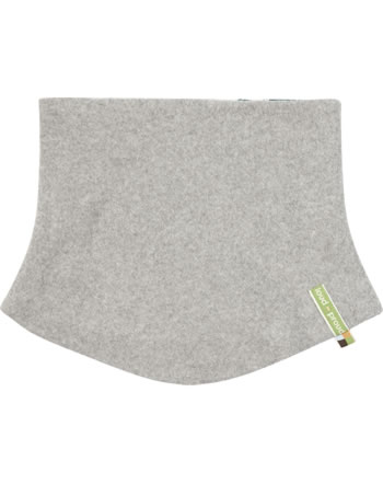 loud + proud Tube scarf to turn Fleece Loop FOREST ANIMALS grey 7107-gr GOTS