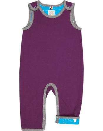 loud + proud Reversible Romper Interlock plum 5074-plu GOTS