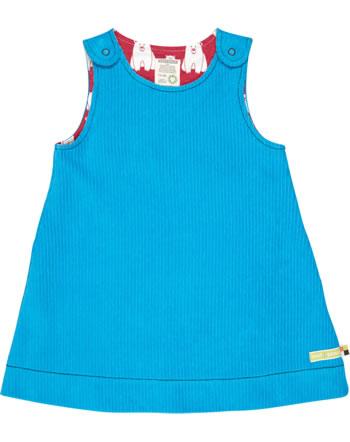 loud + proud reversible dress corduroy POLAR BEARS AND ORCAS aqua 6032-aq