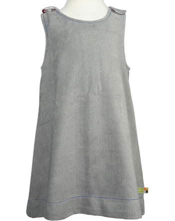 loud + proud reversible dress corduroy PINGUIN grey 6020-gr GOTS