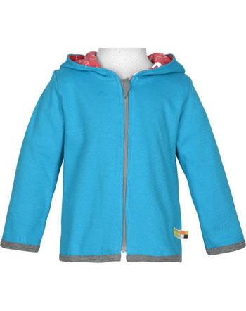 loud + proud Reversible jacket POLAR BEARS AND ORCAS aqua 3065-aq