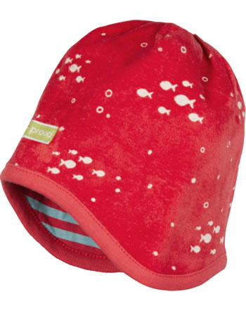 loud + proud Reversible cap terrycloth UNDER THE SEA chili 7098-chi GOTS